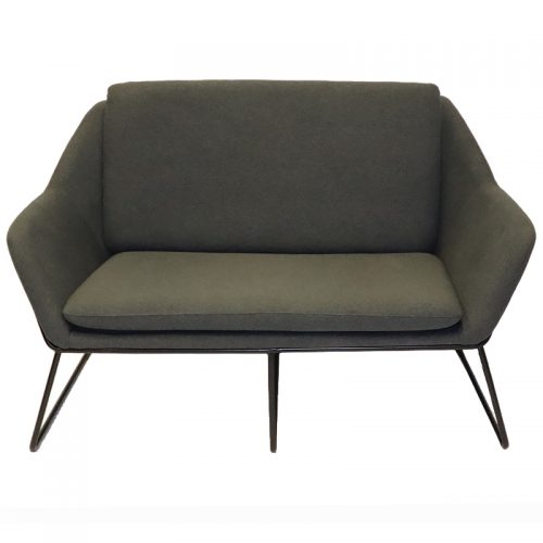 Arrow 2 Seater Lounge, Charcoal Fabric Colour