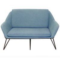 Arrow 2 Seater Lounge, Light Blue Fabric Colour