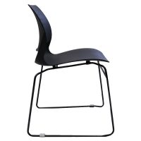 Cinta Chair, Black, Side View
