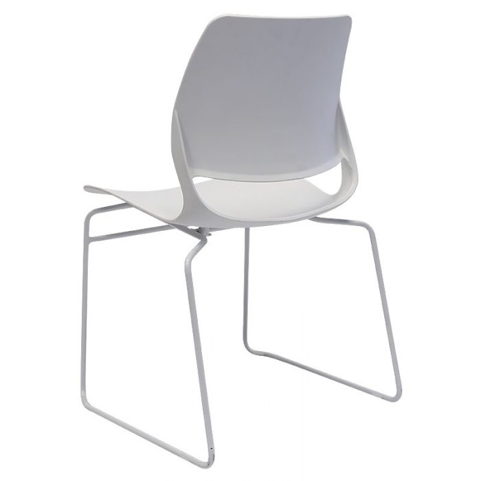 Cinta Chair, White, Rear Angle View