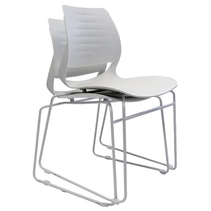 Cinta Chair, White, Stacking
