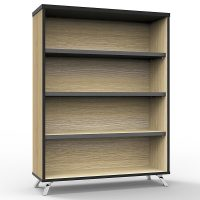 Elite Bookcase, Natural Oak, 1200mm High