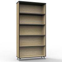 Elite Bookcase, Natural Oak, 1800mm High