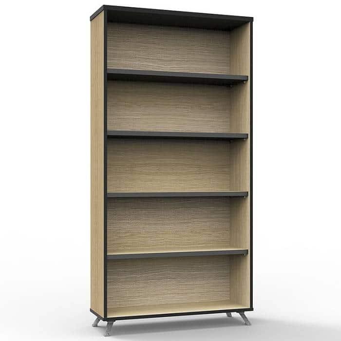 Elite Bookcase, Natural Oak, 1800mm High