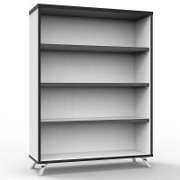 Elite Bookcase, Natural White, 1200mm High