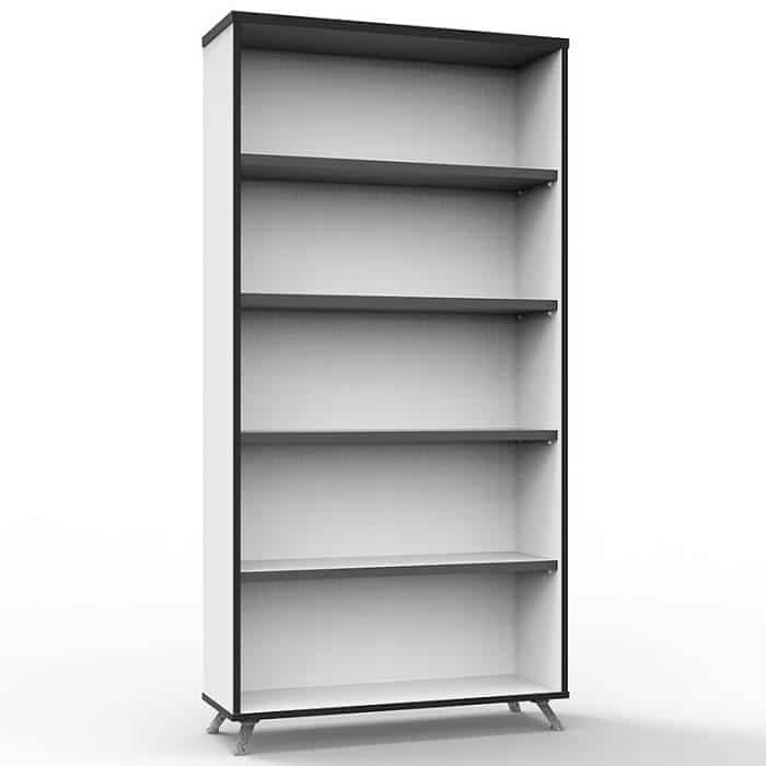 Elite Bookcase, Natural White, 1800mm High