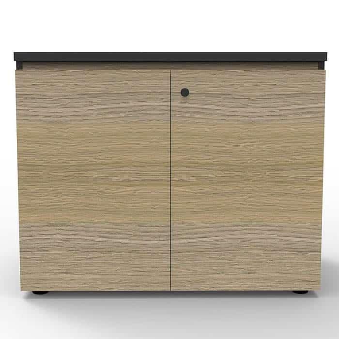 Elite Hinged Door Credenza, Natural Oak, 900mm w x 600mm d x 730mm h