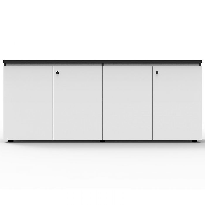 Elite Hinged Door Credenza, Natural White, 1800mm w x 450mm d x 730mm h