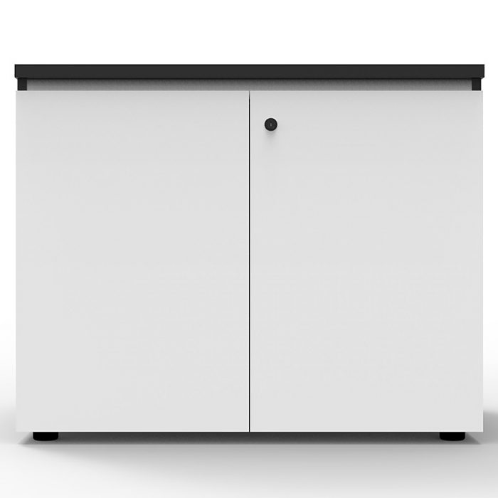 Elite Hinged Door Credenza, Natural White, 900mm w x 600mm d x 730mm h
