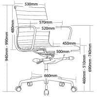 Peni Chair, Dimension
