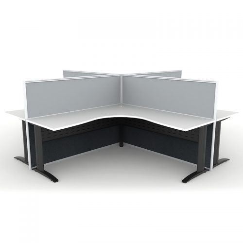 Space System 4 Way Corner Workstation Pod, Image 2
