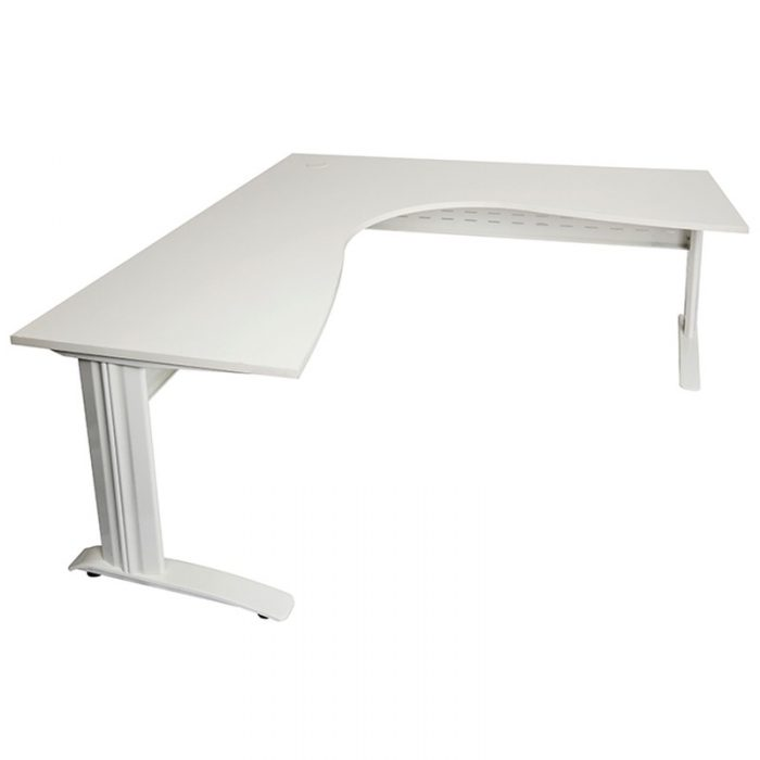 White L Shaped Desk