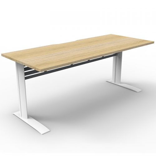 Space System Deluxe Desk, Natural Oak Desk Top
