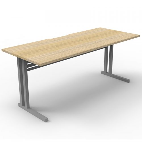 Space System Eco Deluxe Desk, Natural Oak Desk Top