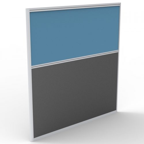 Space System Screen Divider Panel, Blue Fabric Colour, 1250mm h