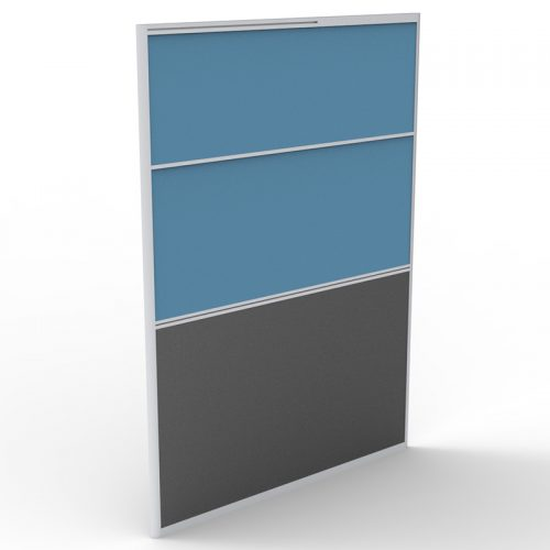 Space System Screen Divider Panel, Blue Fabric Colour, 1650mm h
