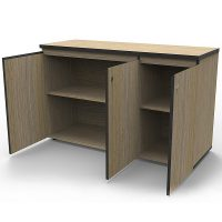 oak office cabinet