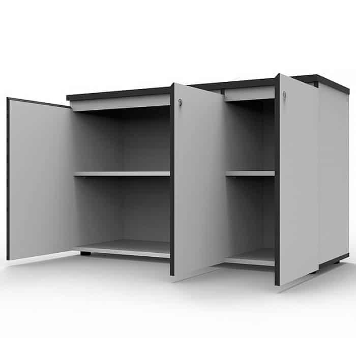 Office cupboard with swing doors