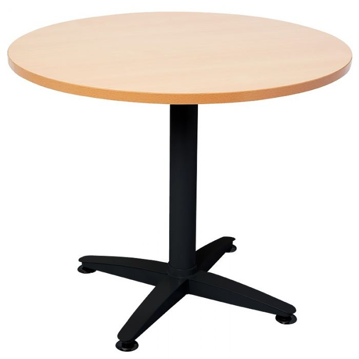 Black round office table