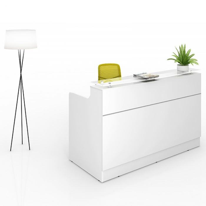 White reception desks