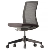 Black mesh meeting room chair