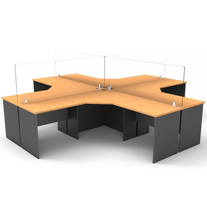 Clear desk screen