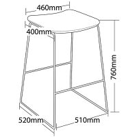 Gamma bar stool dimensions