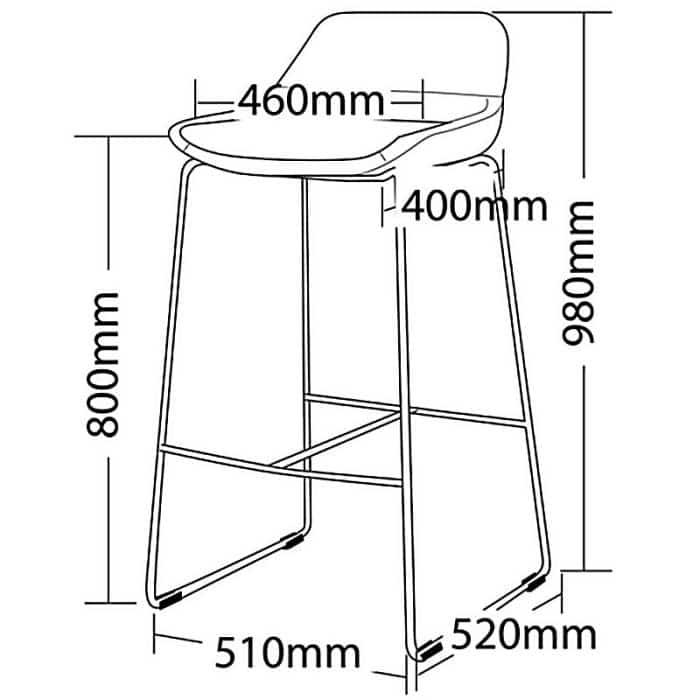 Bar stool sizes