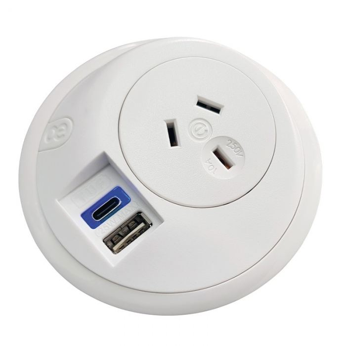 Power outlet with USB's