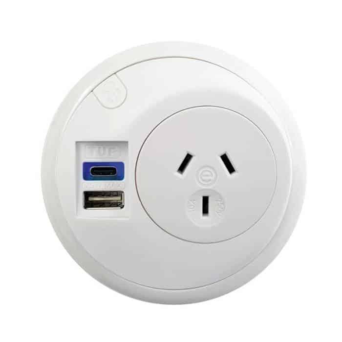 Desk top power outlet