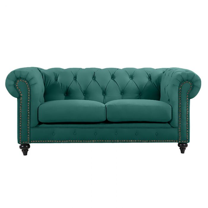Green Chesterfield Lounge