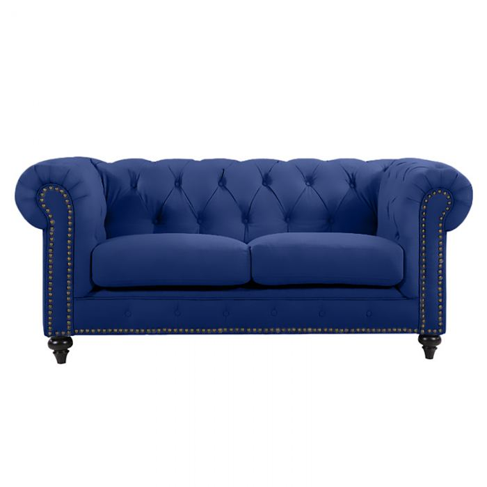 Blue Chesterfield Lounge