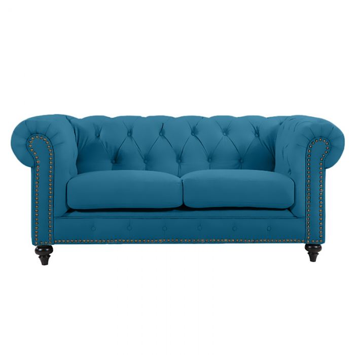 Turquoise Chesterfield Lounge