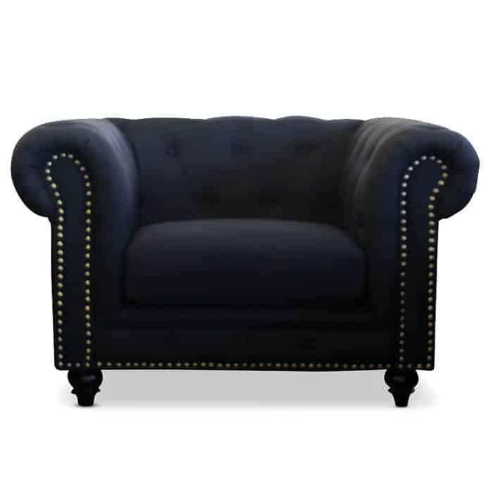 Black Chesterfield Chair