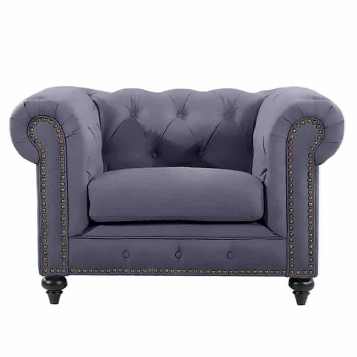 Slate Chesterfield Chair