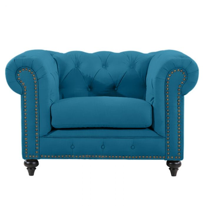 Turquoise Chesterfield Chair