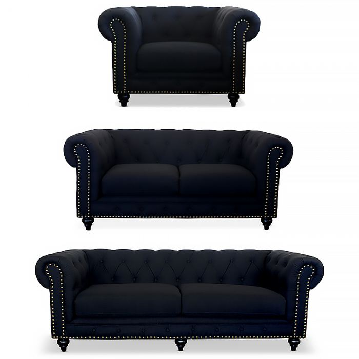 Black Chesterfield Suite