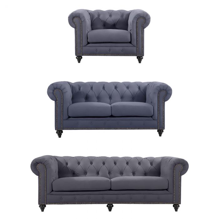 Slate Chesterfield Suite