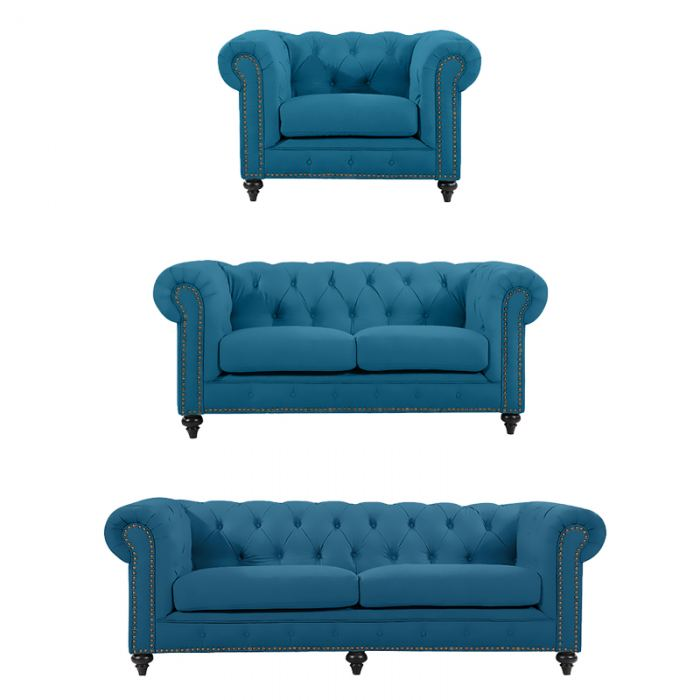 Turquoise Chesterfield Suite