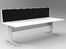 Space-System-Desk-Silver-Base-with-Parchment-Off-White-Top-and-Integral-Express-Screen-Divider
