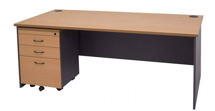 Drawer attached with desk