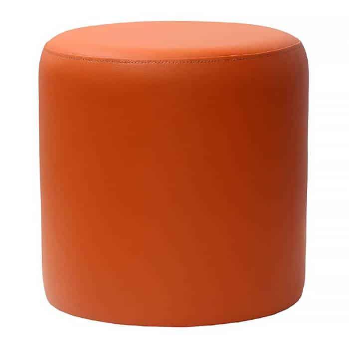 orange round ottoman