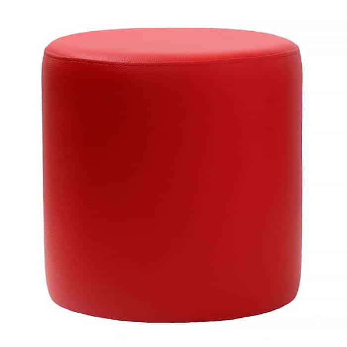 round red ottoman